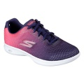 Skechers Go Step Lite Trainers Ladies Navy/Pink