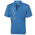 Dunlop Poly Check Polo Blue/White/Navy - tričko - vel. XL