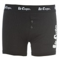 Lee Cooper Button Boxer Mens Black - boxerky - vel. M
