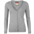 Lee Cooper Ess Cardigan Ladies Light Grey - svetr - vel. XL (16)
