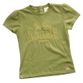 Lonsdale Button Tee Ladies Khaki - tričko - vel. S (10)