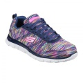 Skechers Flex Appeal Whirl Wind Ladies Trainers Navy/Multi - tenisky - vel. 6 (39)