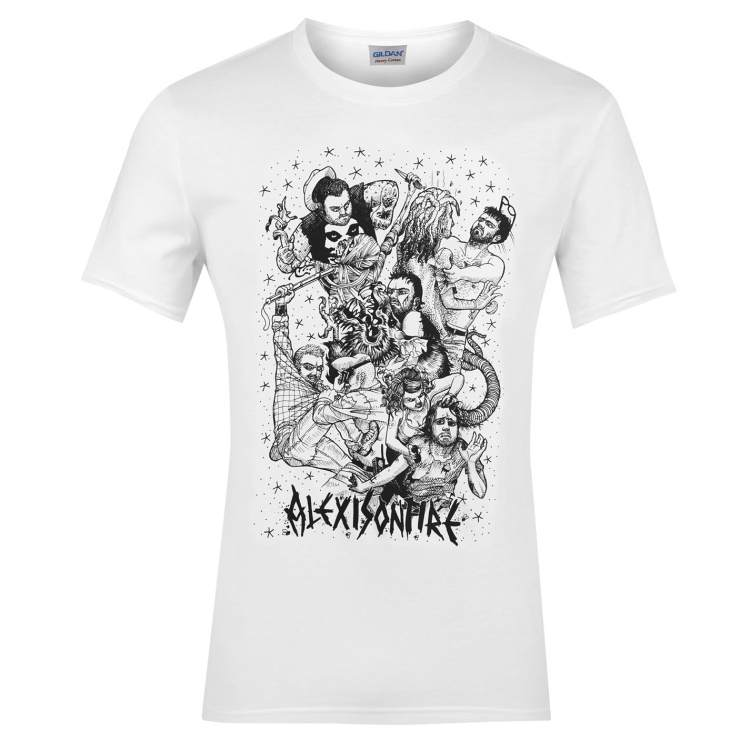 Official Alexisonfire TShirt Fight Small