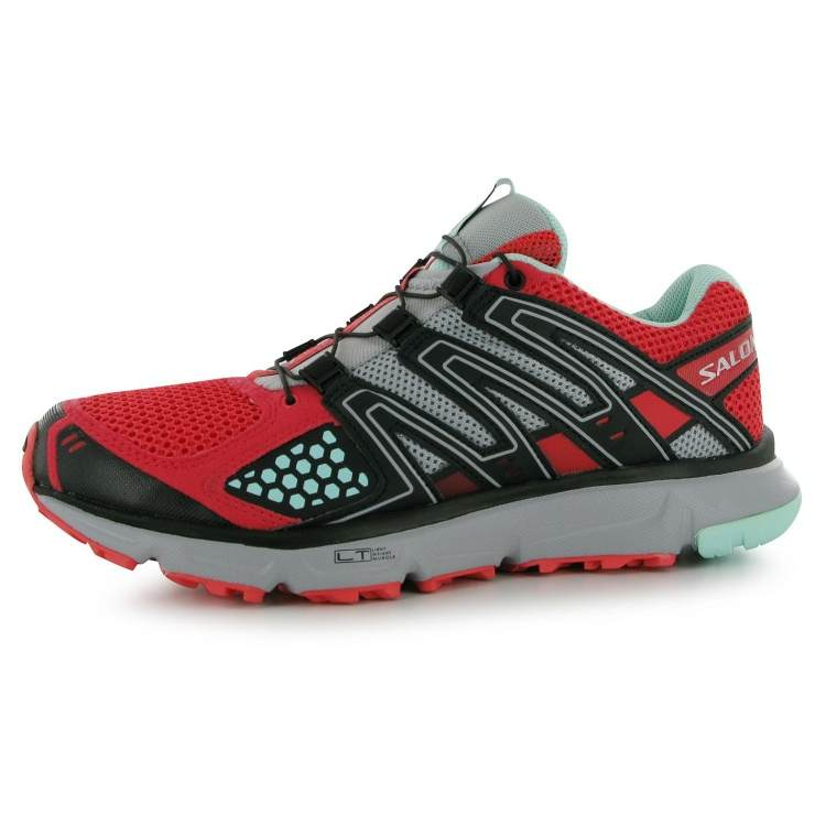 Salomon XR Mission 1 Ladies Trail Running Shoes Red/Black 7 (41)