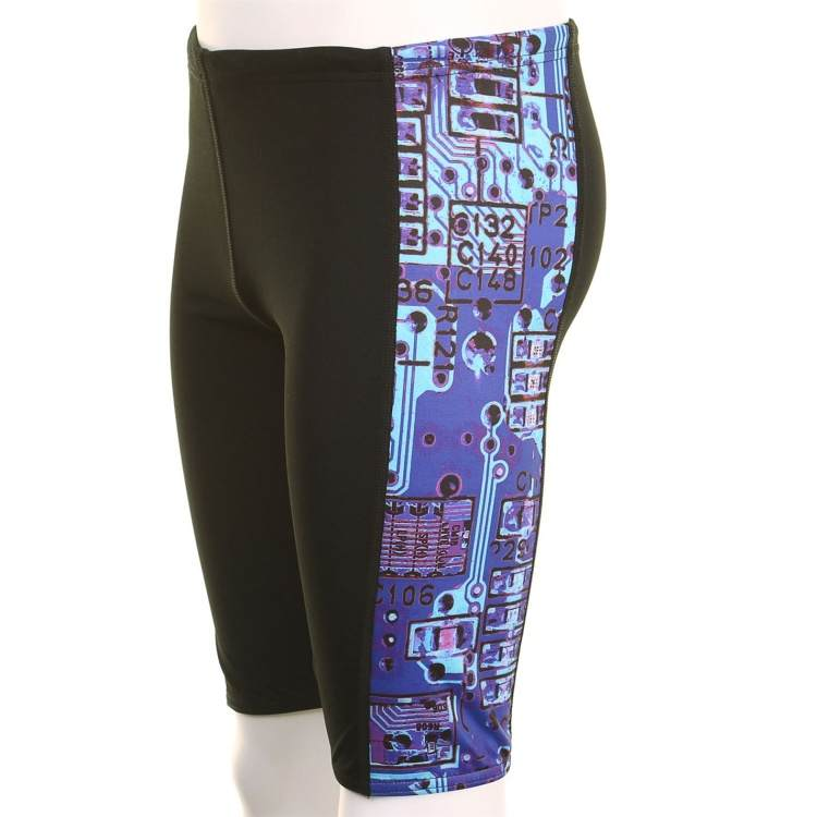 Maru Pacer Swim Jammers Black/Blue 22